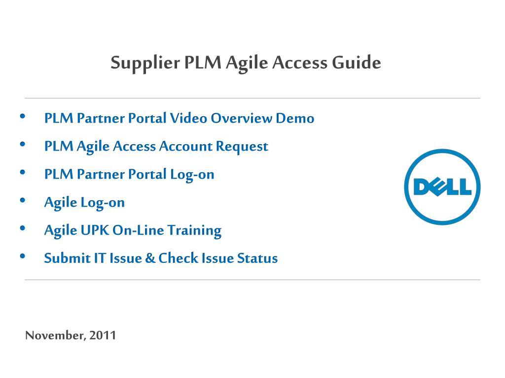 Supplier PLM Agile Access Guide