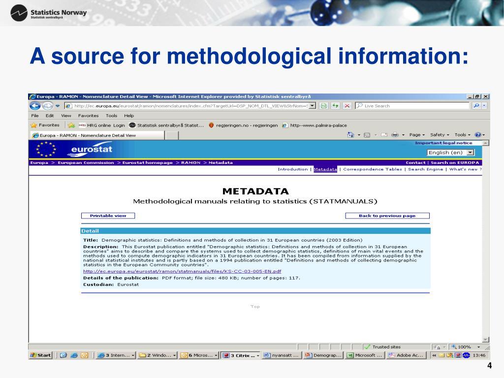 A source for methodological information: