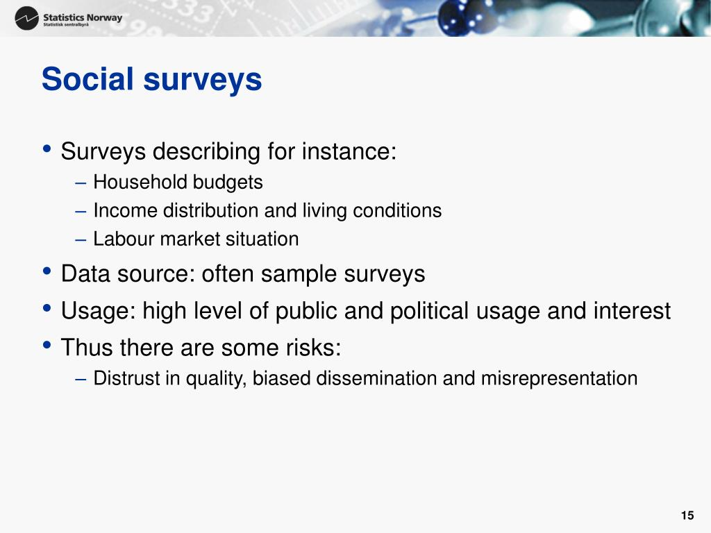 Social surveys