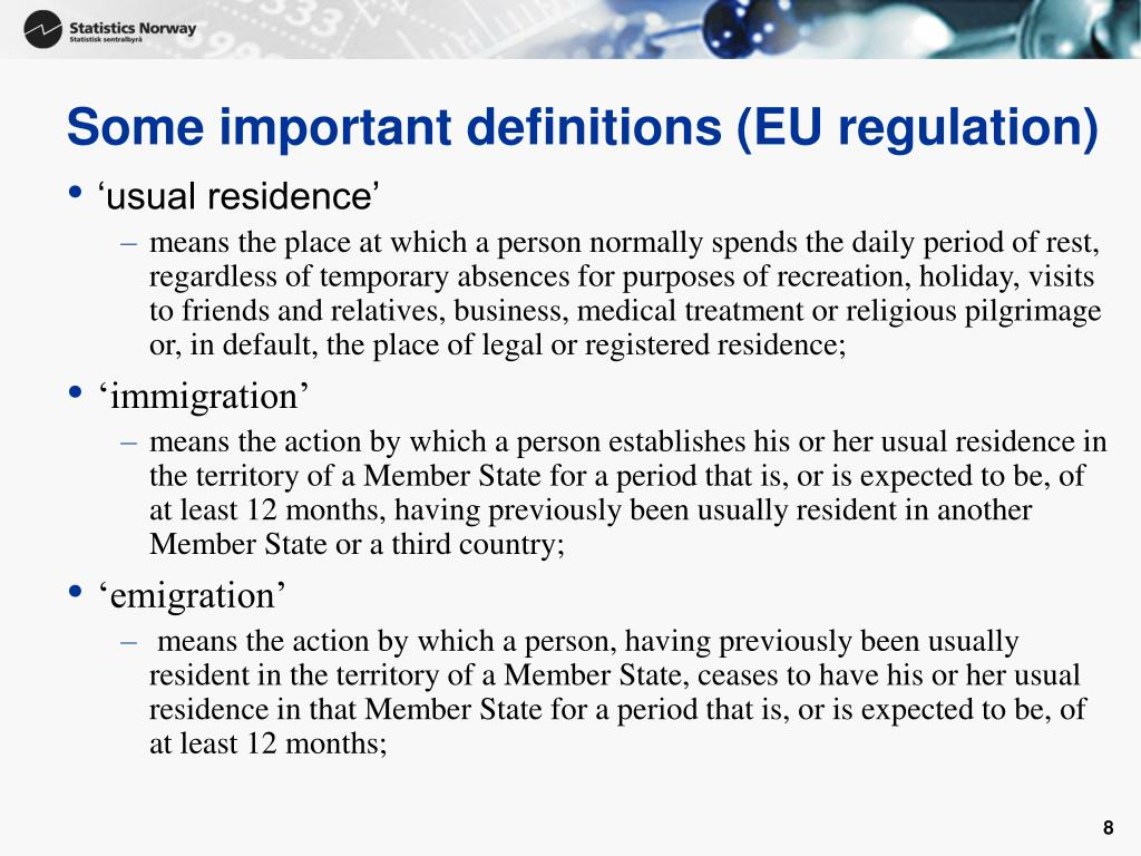 Some important definitions (EU regulation)