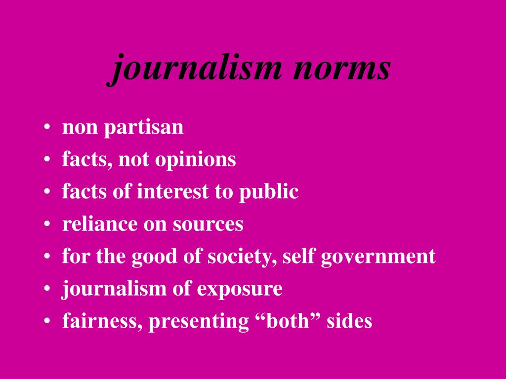 journalism norms