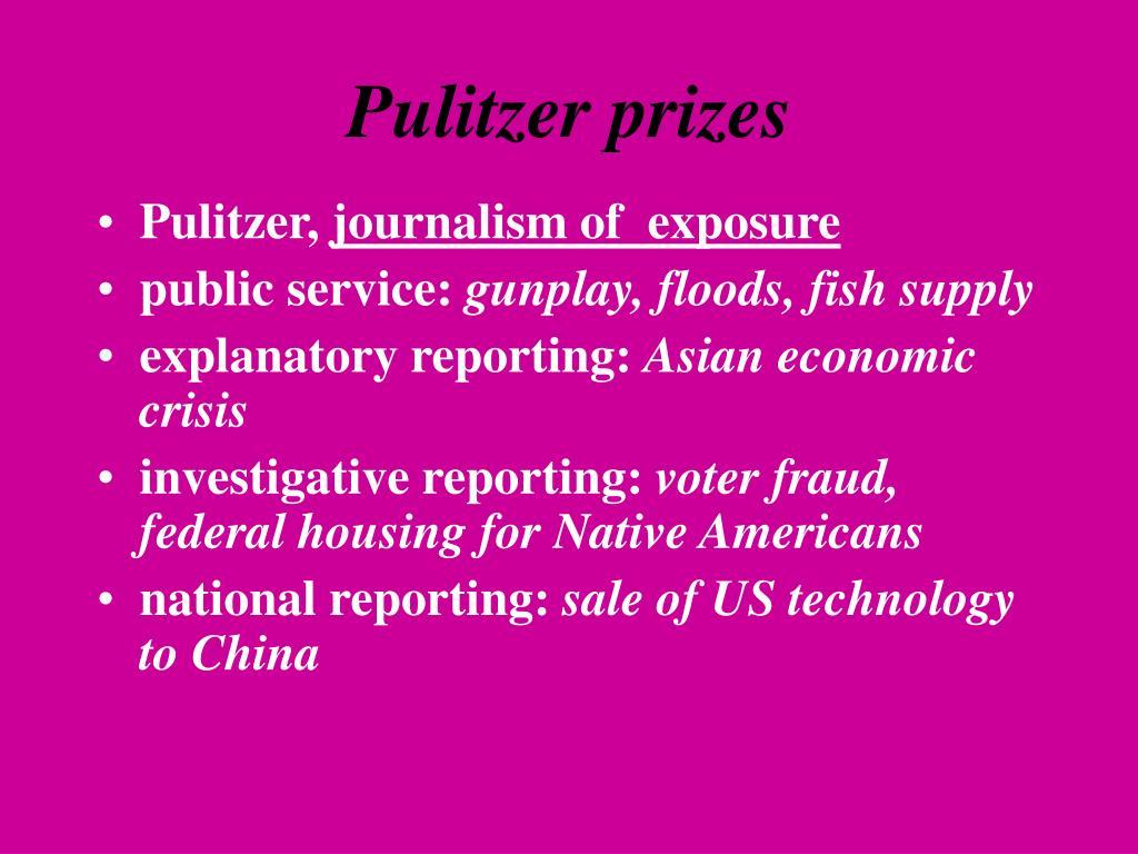 Pulitzer prizes