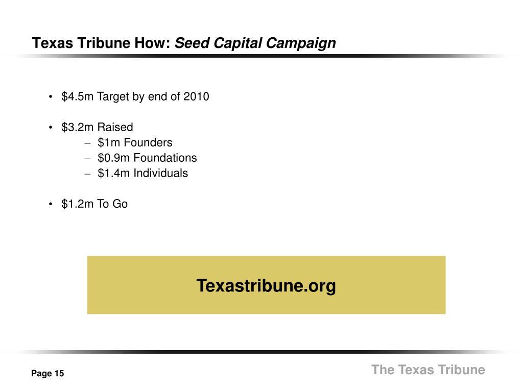 Texas Tribune How: