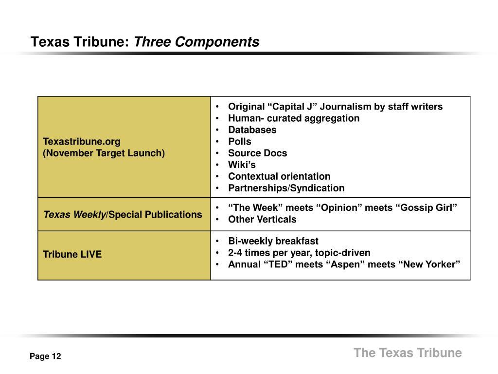 Texas Tribune: