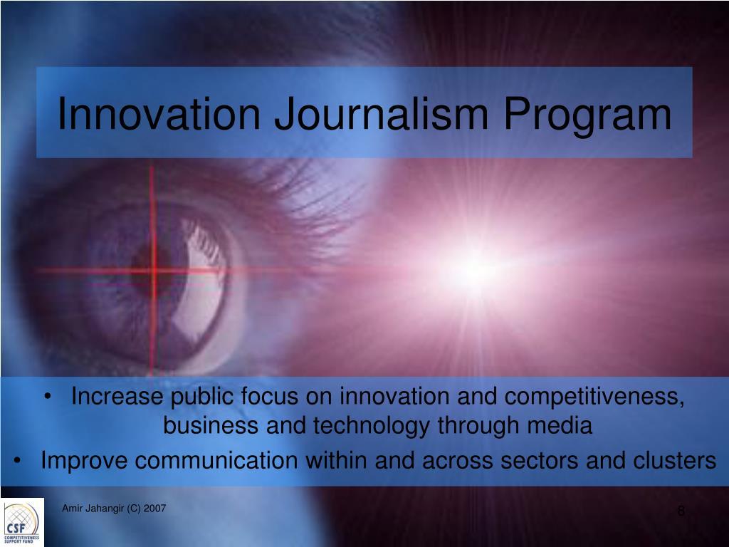 Innovation Journalism Program