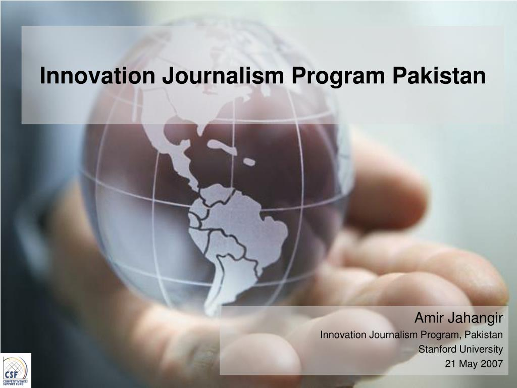 innovation journalism program pakistan