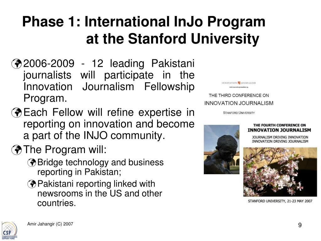Phase 1: International InJo Program