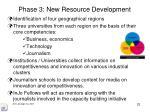 phase 3 new resource development