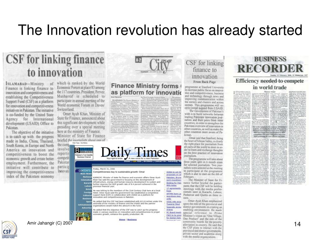 The Innovation revolution has already started