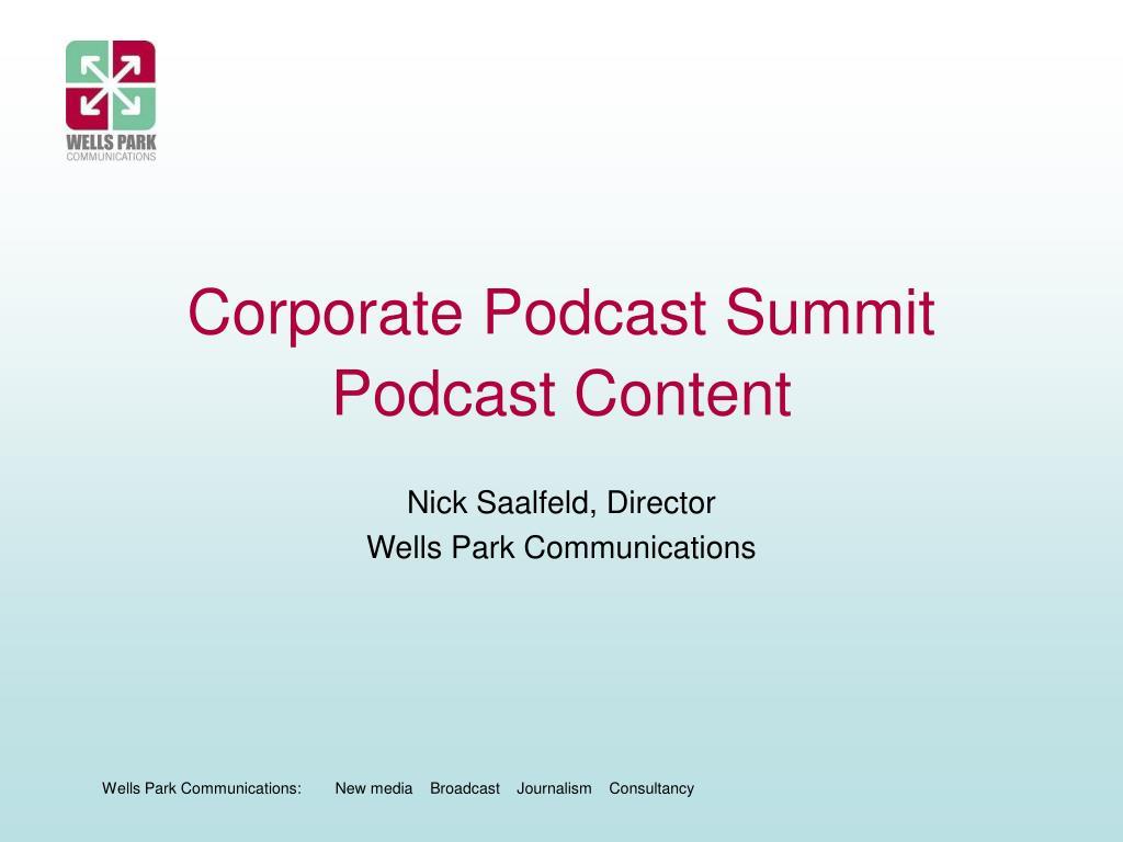 Corporate Podcast Summit