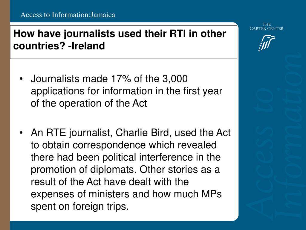 How have journalists used their RTI in other countries? -Ireland