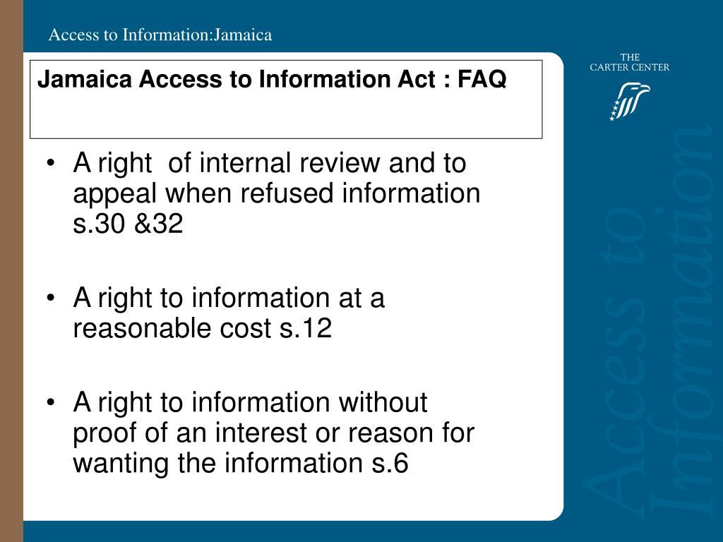 Jamaica Access to Information Act : FAQ