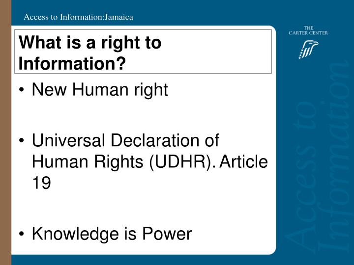 What is a right to information