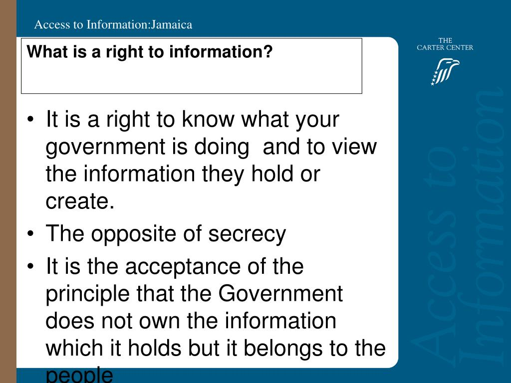 What is a right to information?