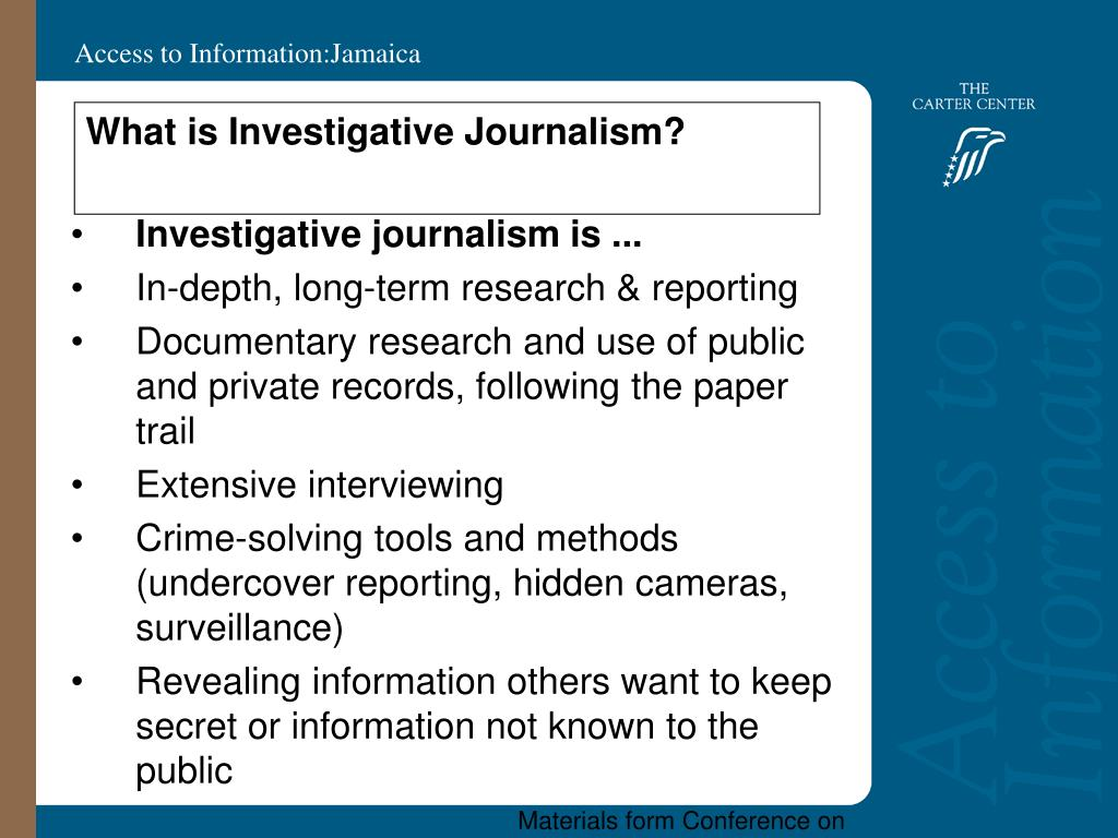 What is Investigative Journalism?