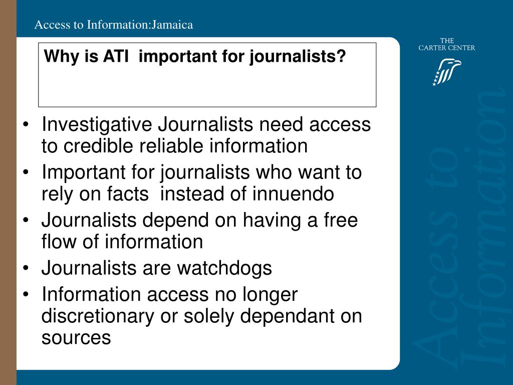 Why is ATI  important for journalists?