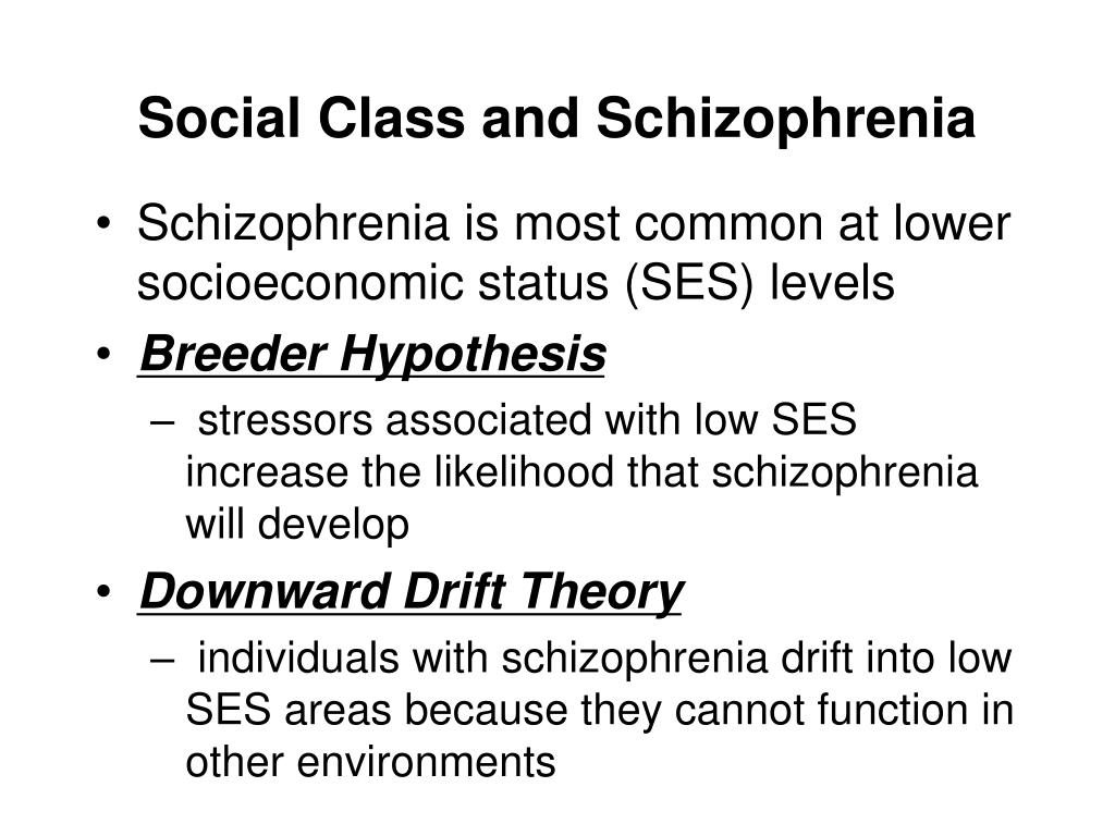 Social Class and Schizophrenia