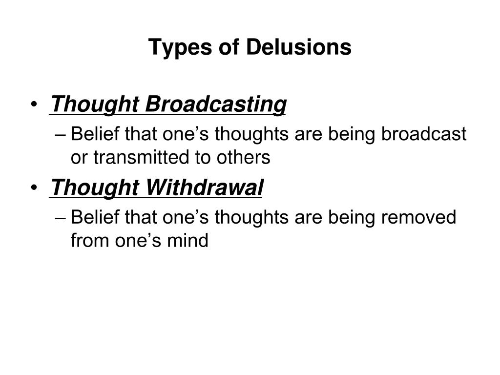 Types of Delusions