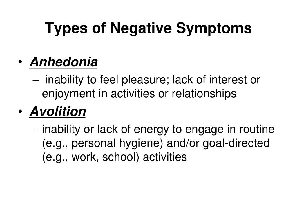 Types of Negative Symptoms