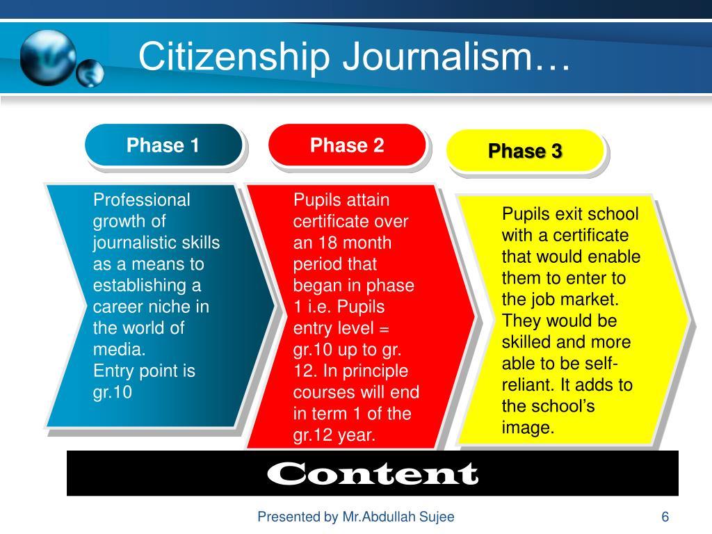 Citizenship Journalism…