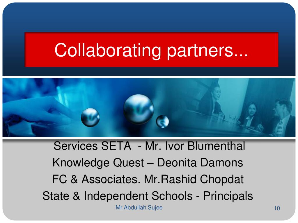 Collaborating partners...