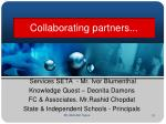 collaborating partners