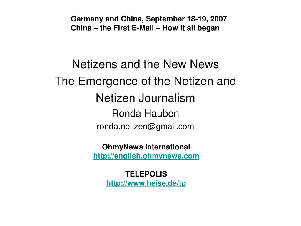 Germany and China, September 18-19, 2007