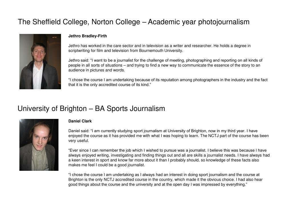 University of Brighton – BA Sports Journalism