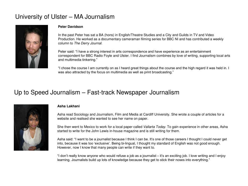 Up to Speed Journalism – Fast-track Newspaper Journalism