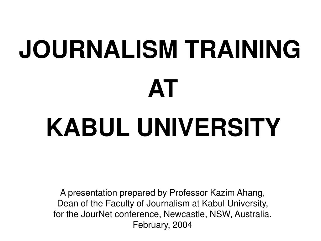 JOURNALISM TRAINING