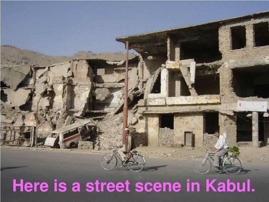 Here is a street scene in Kabul.