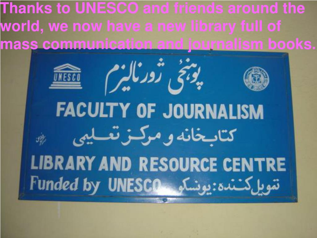 Thanks to UNESCO and friends around the