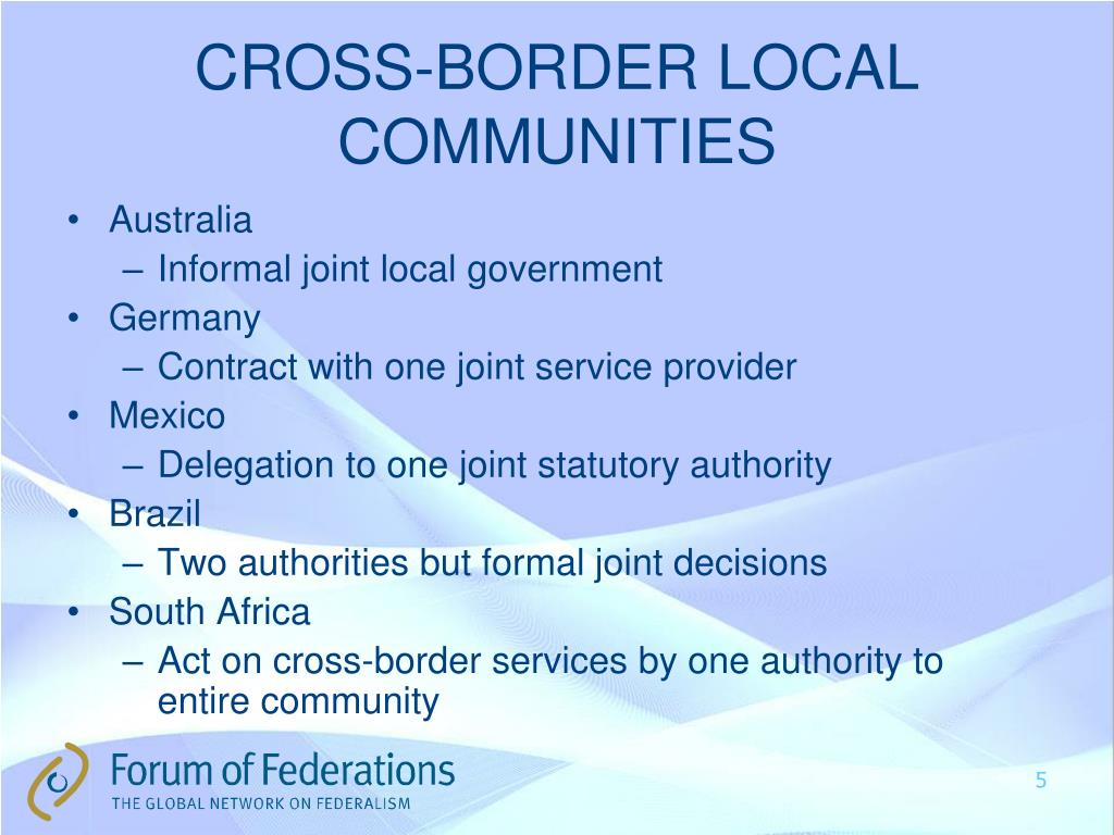 CROSS-BORDER LOCAL COMMUNITIES