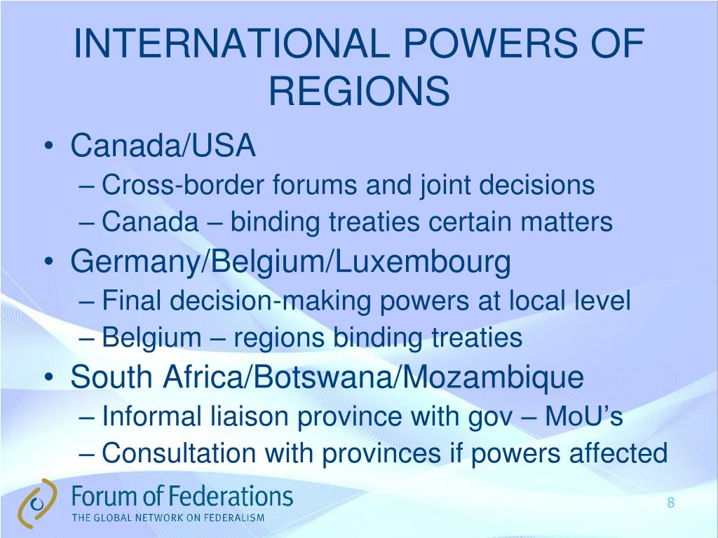 INTERNATIONAL POWERS OF REGIONS