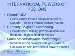 international powers of regions