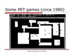 some pet games circa 198017