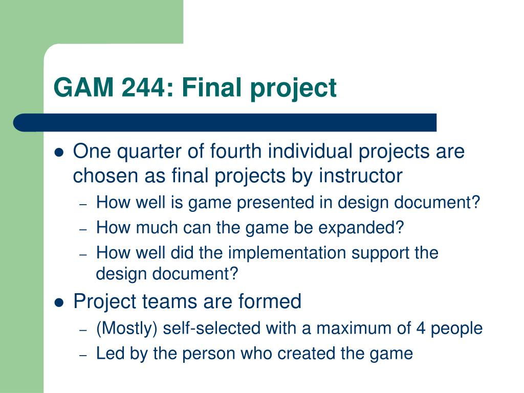 GAM 244: Final project