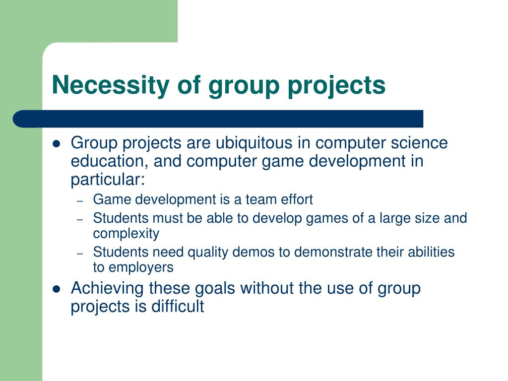 Necessity of group projects