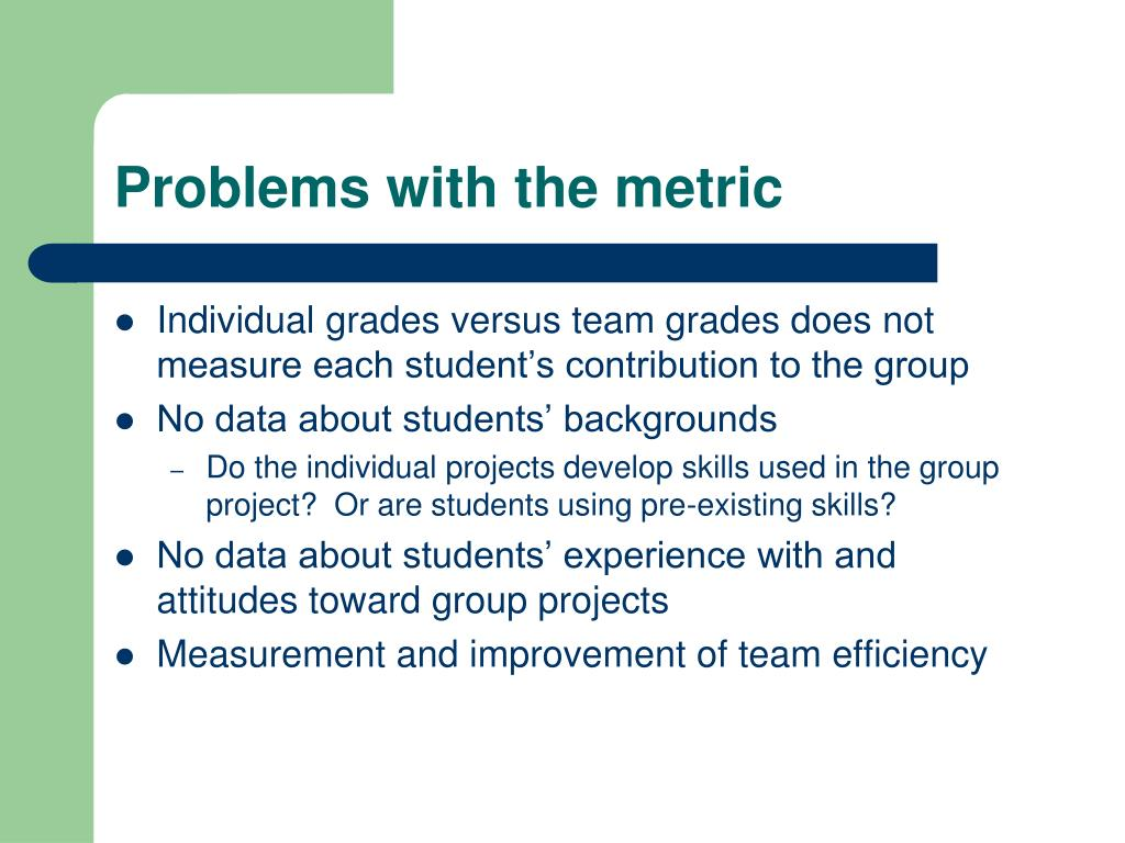 Problems with the metric