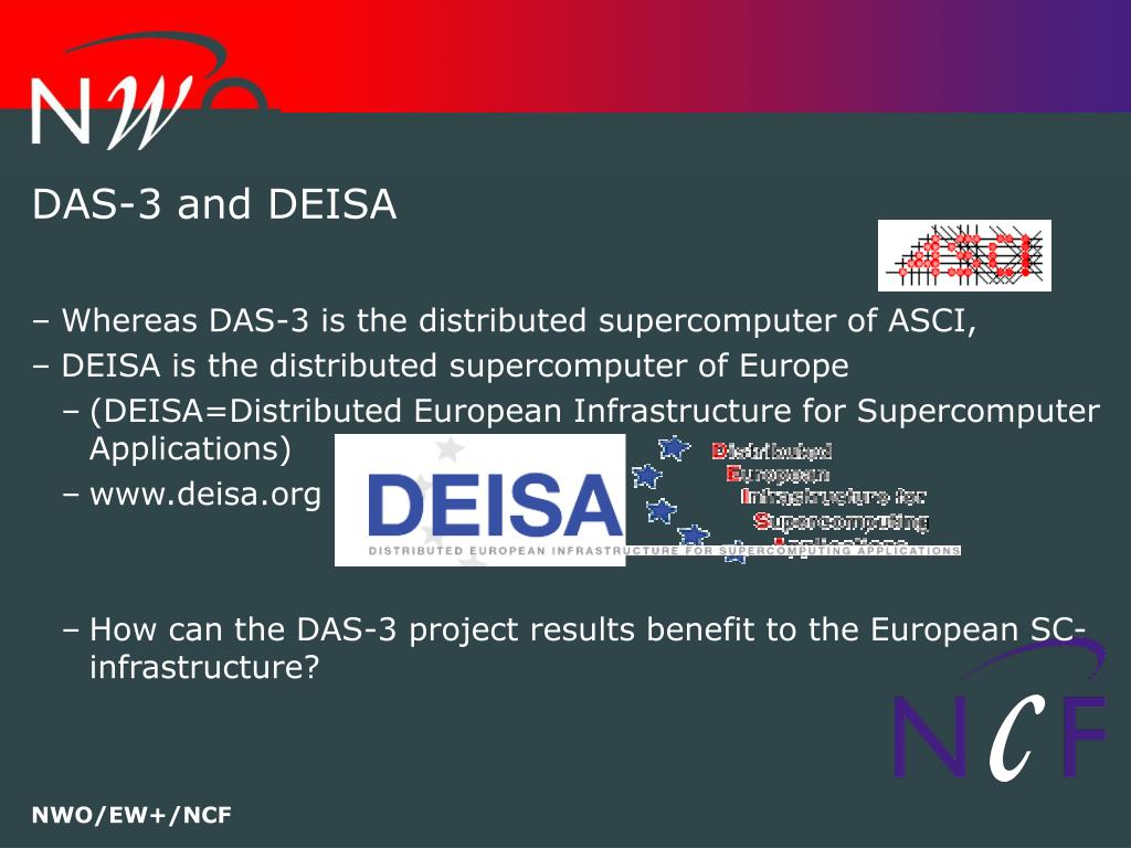 DAS-3 and DEISA