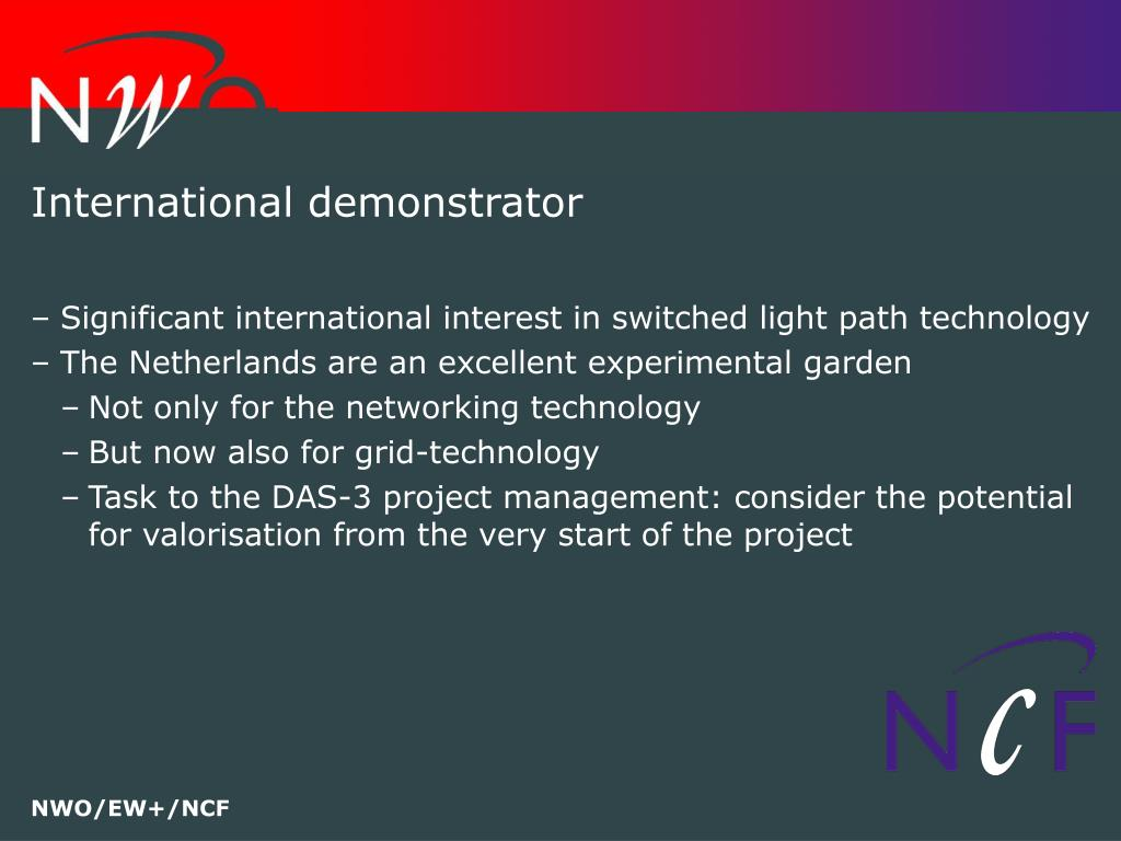 International demonstrator