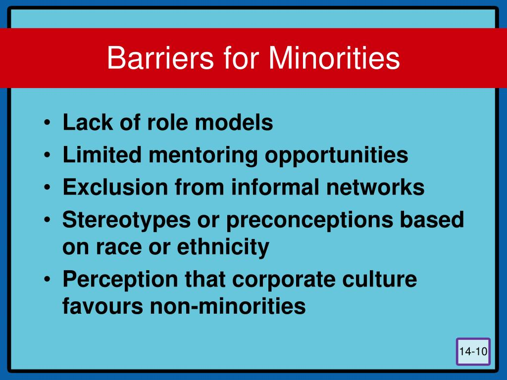 """the barriers for minority males in Market entry barriers, discrimination and  non-minority men of minority and female """"fronts"""" during the comparative  on what market entry barriers, if any ."""