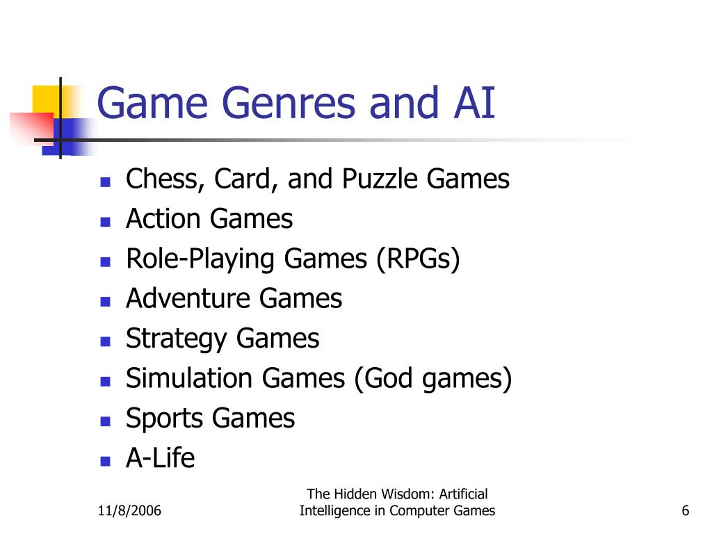 Game Genres and AI