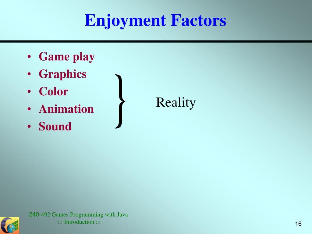 Enjoyment Factors