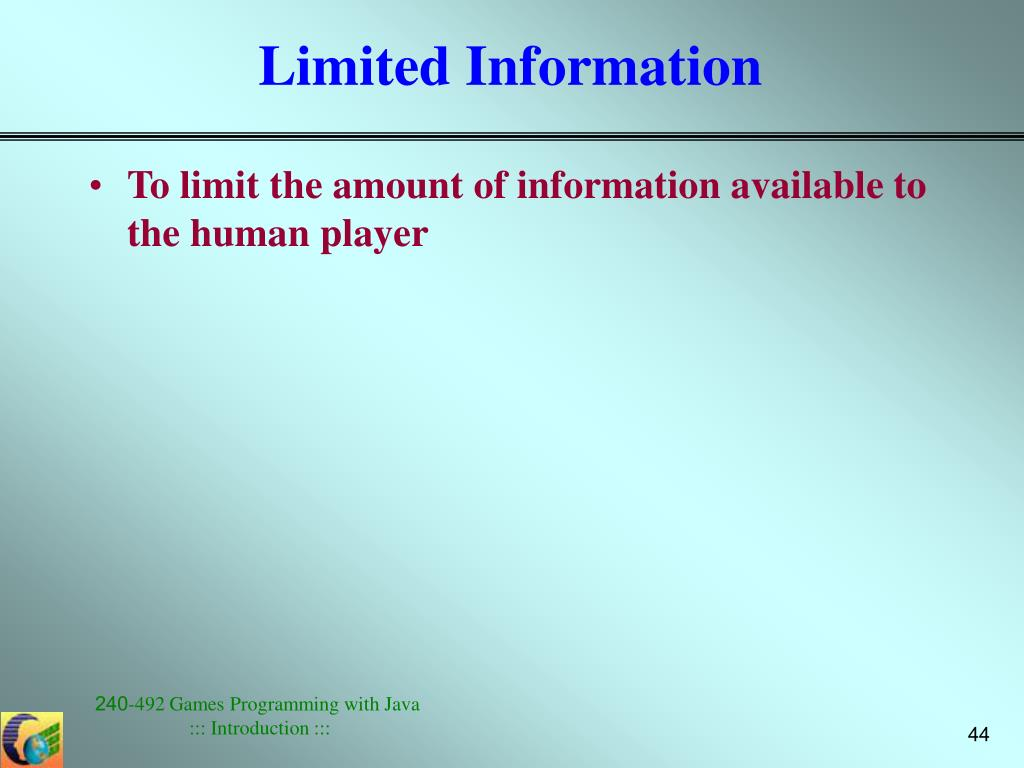 Limited Information