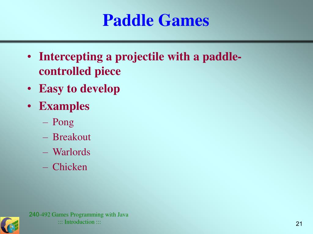 Paddle Games