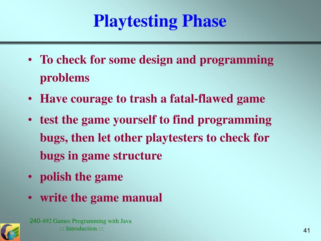 Playtesting Phase