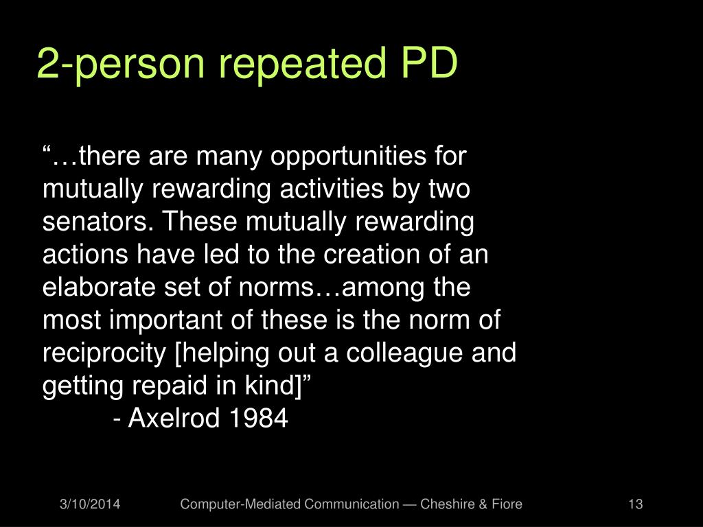 2-person repeated PD