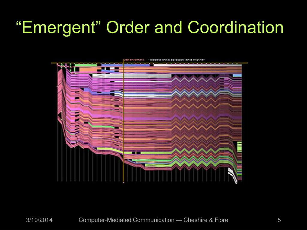 """""""Emergent"""" Order and Coordination"""