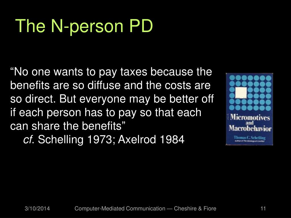 The N-person PD